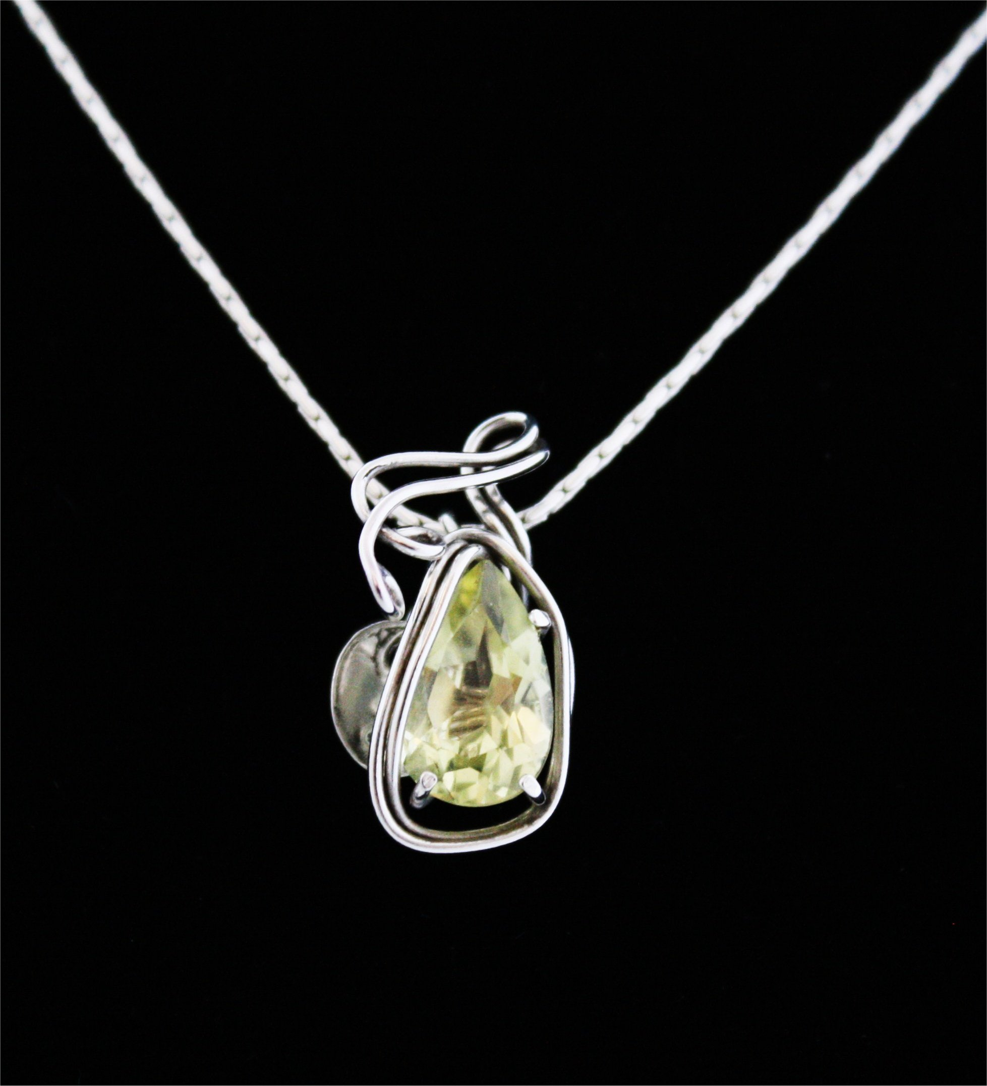 No187+Cut+Brazilian+Lemon+Citrine+Pendan