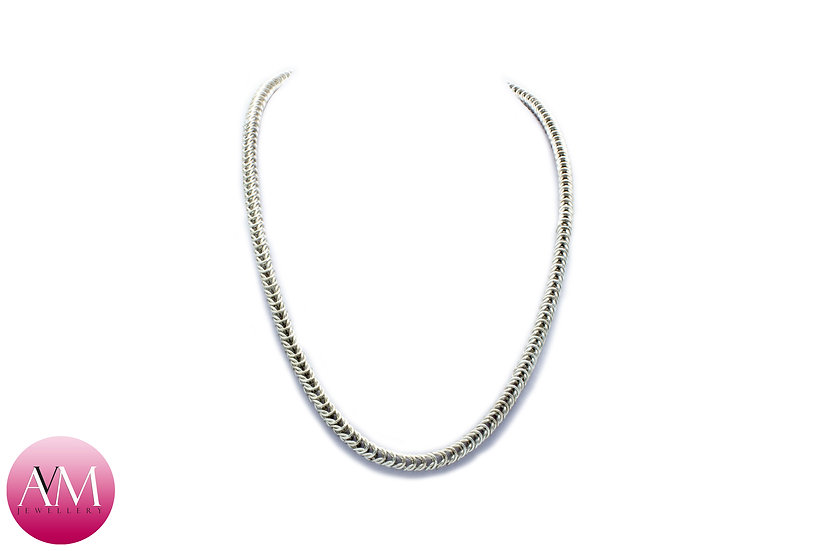 Delicate Sterling Silver Boxchain Necklace