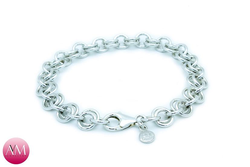 Extra Heavy Sterling Silver 2in1 Chain Bracelet