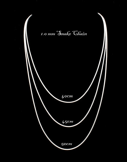 1.0mm Sterling Silver Snake Chain for Pendants