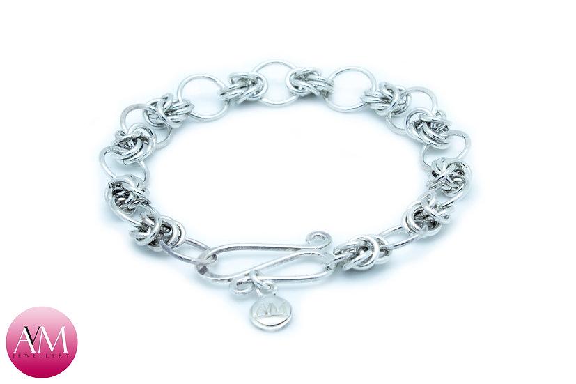 Sterling Silver Half Byzantine Bracelet