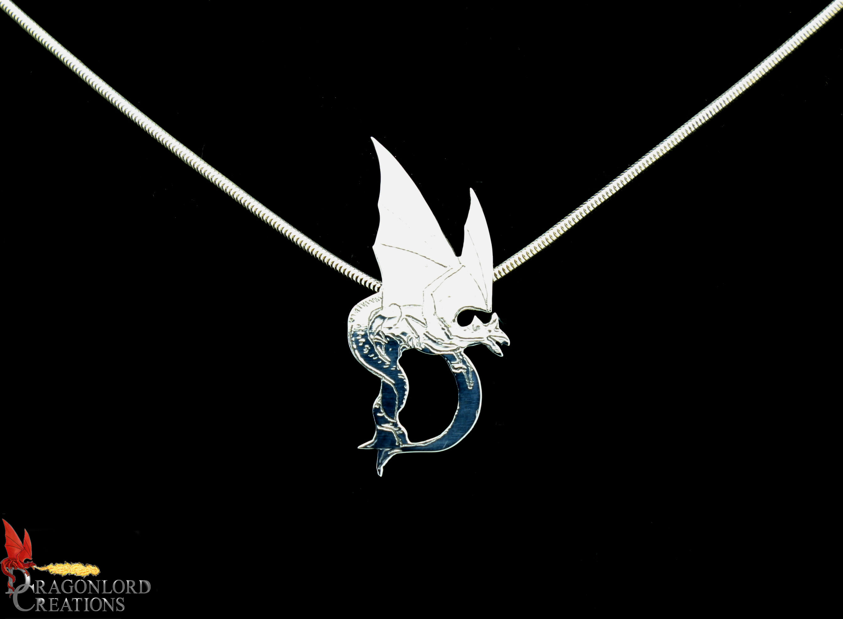 C.O. Dragon on a D Pendant