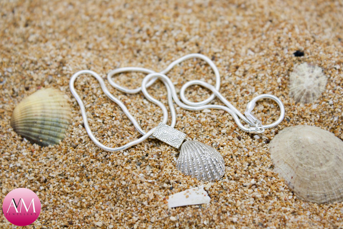Ridged Seashell Pendant