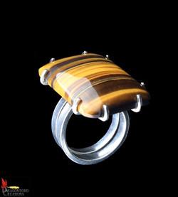 No364 Huge Tiger's Eye Ring