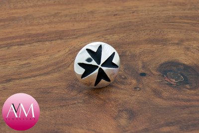 Maltese Cross Button Lapel Pin