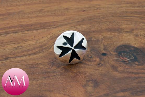 Maltese Cross Button Lapel Pin