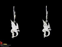 C.O. Dragon on a D Earrimgs