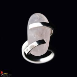 No196b Rose Quartz Ring