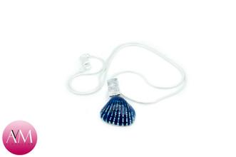 Blue Seashell Pendant