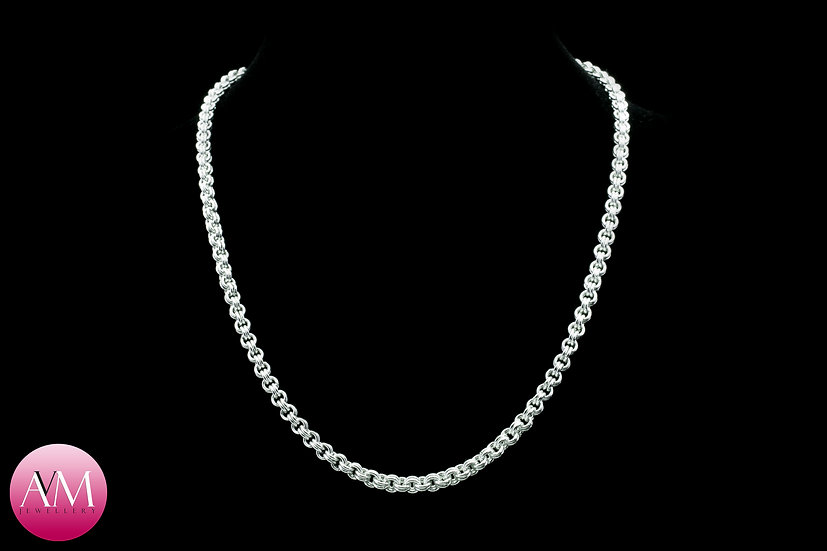 Delicate Sterling Silver 2in2 Chain Necklace