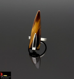 No481b Tigers Eye Point Ring
