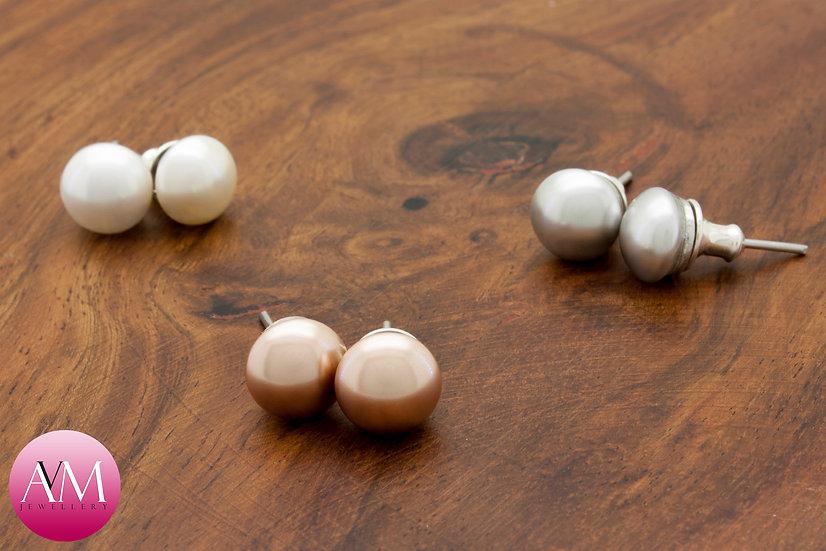 Swarovski Pearl on Sterling Silver Stud Earrings