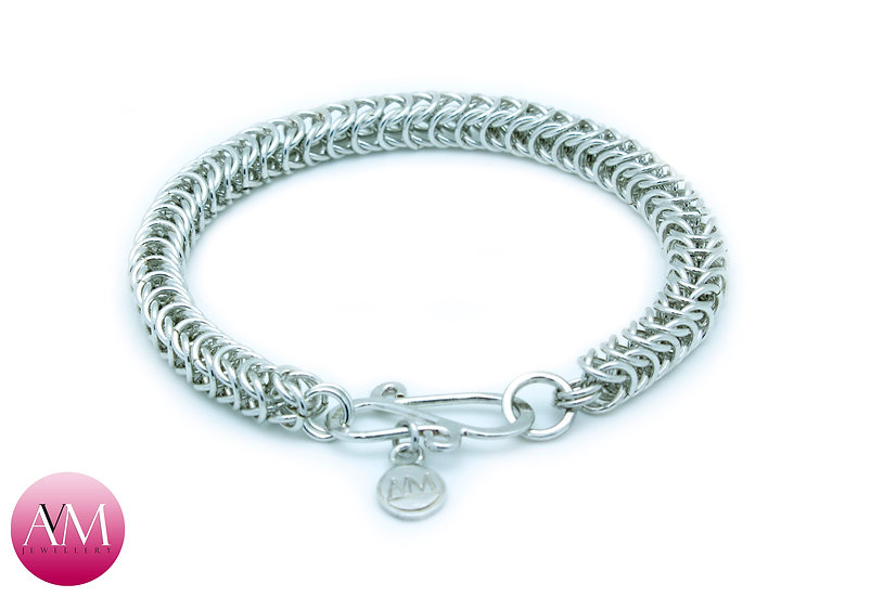 Delicate Sterling Silver Boxchain Bracelet