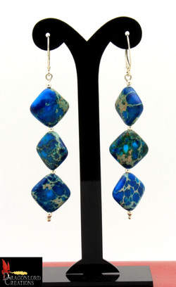 No587+Blue+Jasper+Earrings