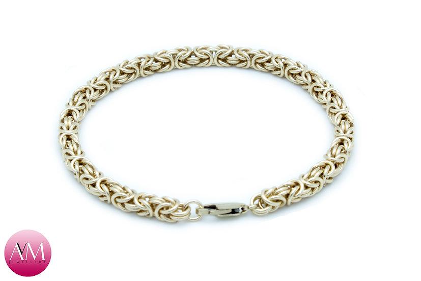 Delicate Yellow Gold Fill Byzantine Bracelet