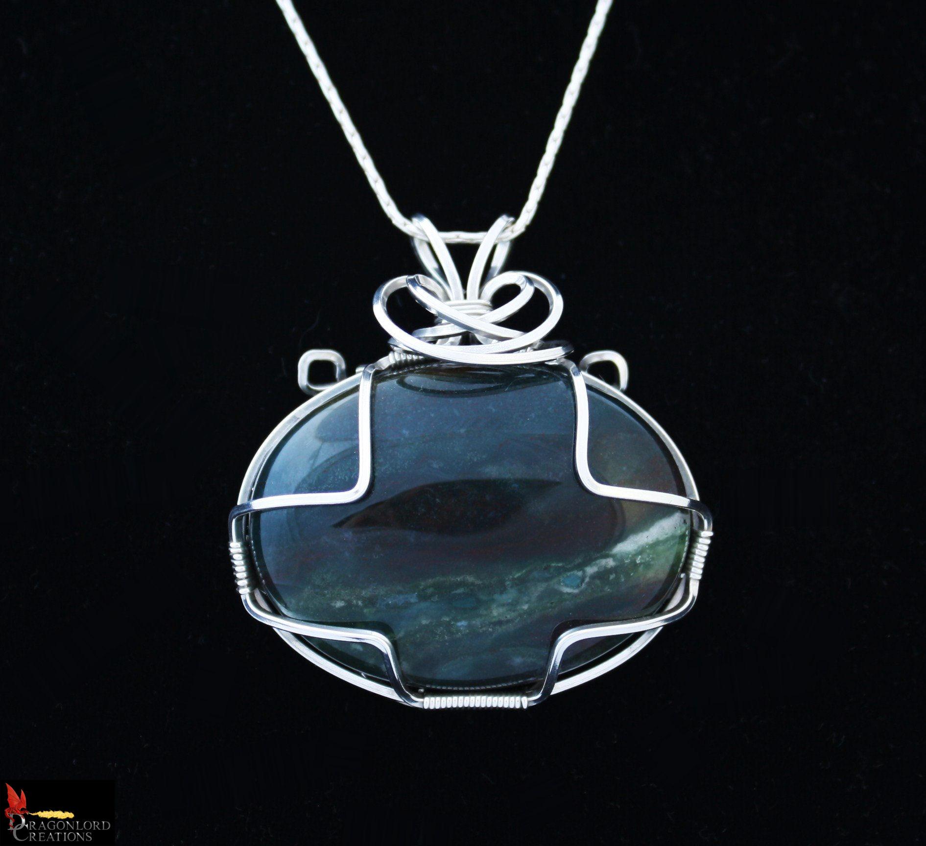 No283+Moss+Agate+pendant+3.5cm
