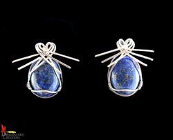 No359+Lapis+Lazuli+Earrings+2.3cm