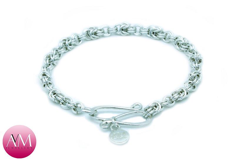 Delicate Sterling Silver Princess Bracelet