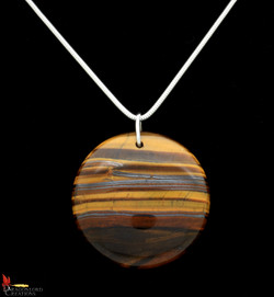 No565+Tigers+Eye+Round+Pendant