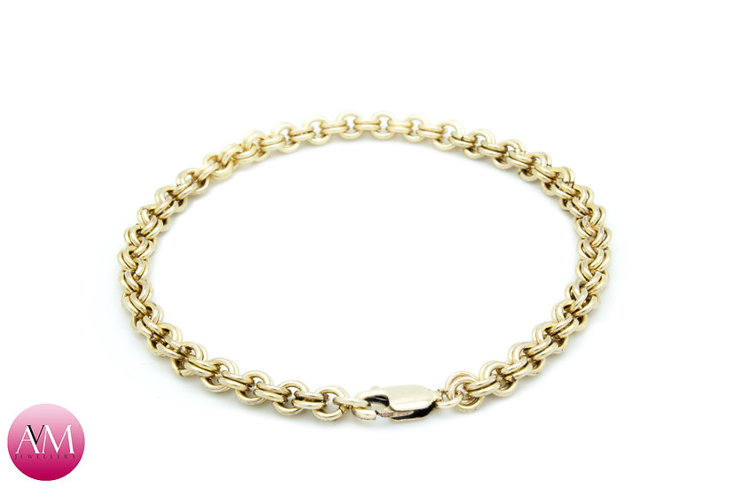 Yellow Gold Filled Delicate 2in2 Bracelet