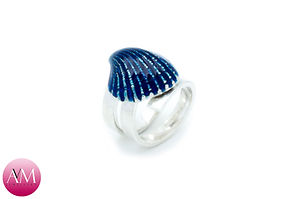 Blue Seashell Ring