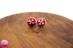 Maltese Cross Earrings
