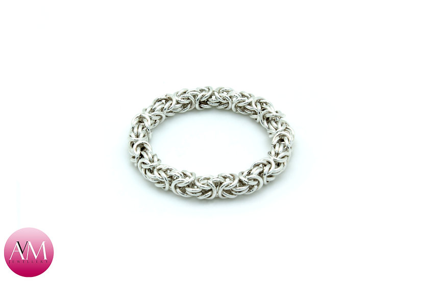 Sterling Silver Microbyzantine Full Ring