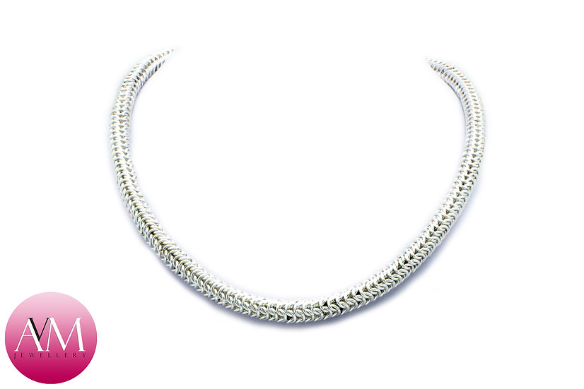 TYCHE - Delicate Sterling Silver 4in1 Roundmaille Necklace