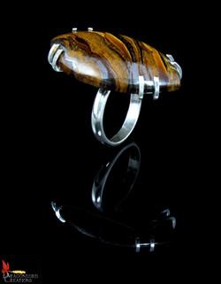 No408 Tiger's Eye Ring Var