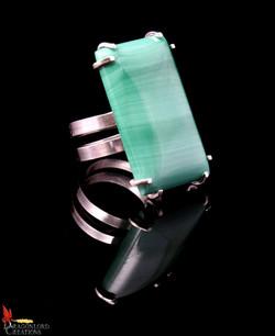 No416d Succour Green Jasper Spiral Ring