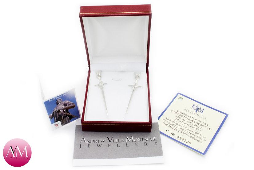Sterling Silver de Valette Sword Earrings