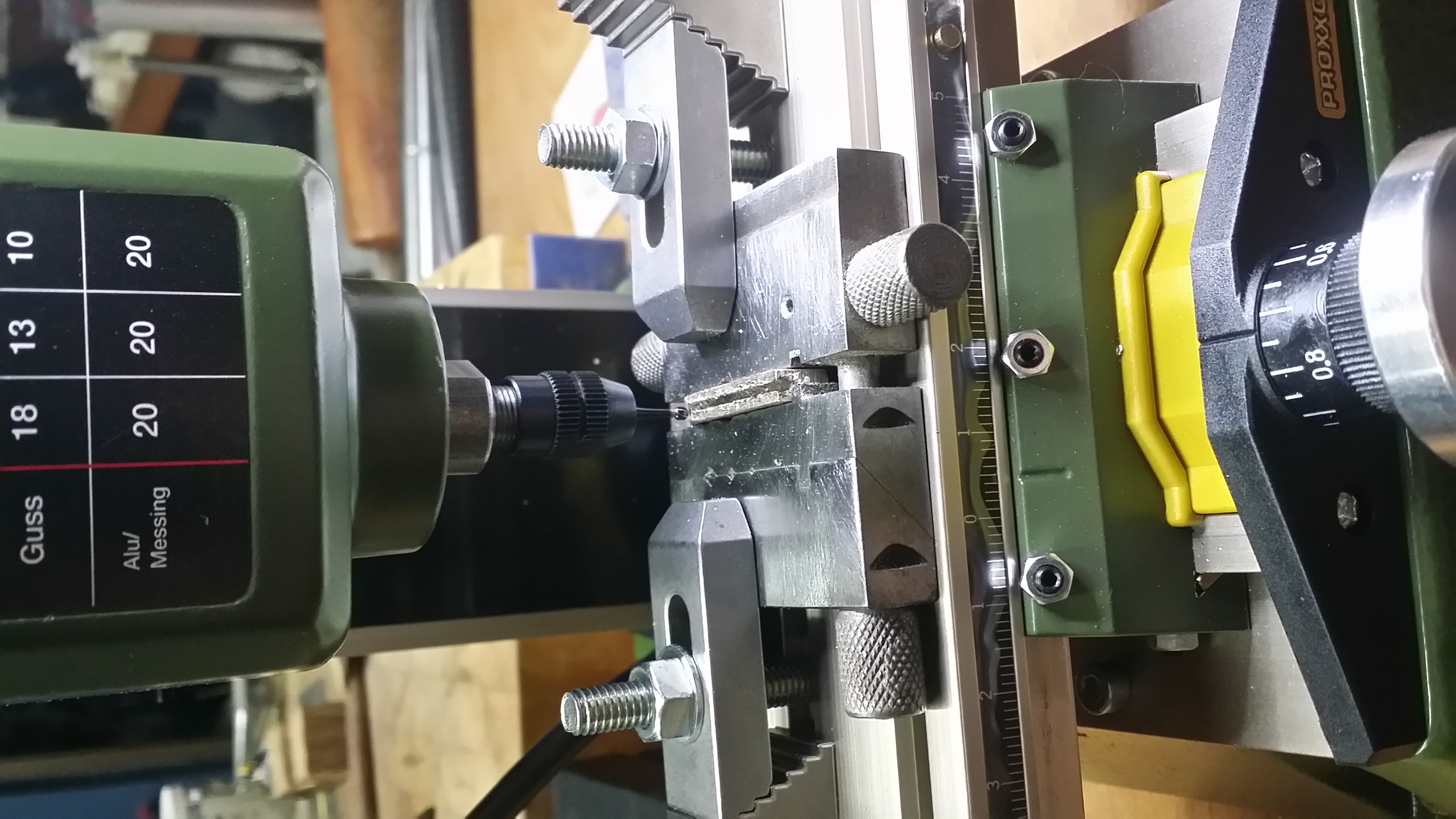Micro lathe in action