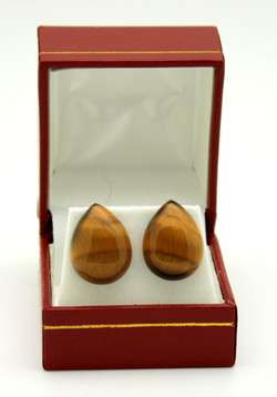 No600 Tigers Eye Drop Stud Earrings