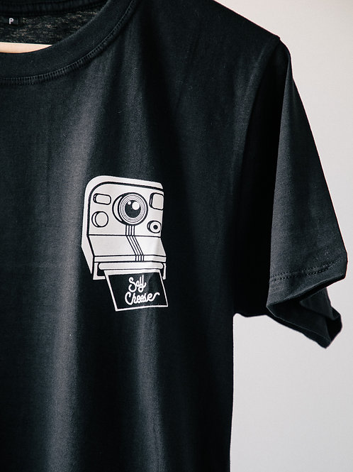 Camiseta Negra Say, Cheese!
