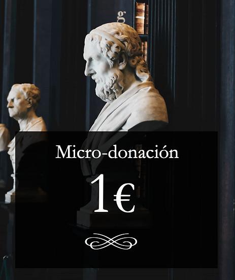 Micro-donación 1€