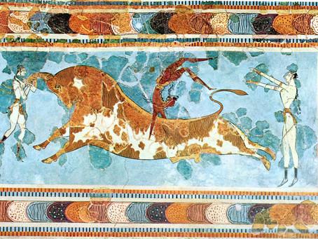 La pintura y los frescos minoicos