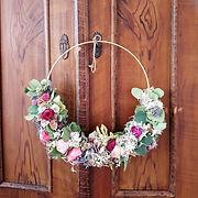 Blumen Blumenkranz Trockenblumenkranz