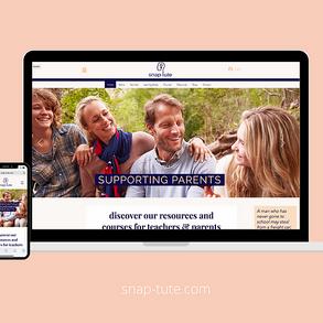 Ed-Tech website launch for snap-tute