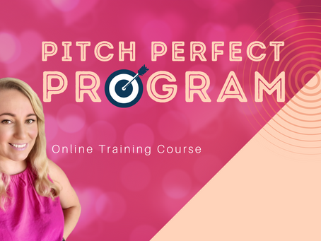 Pitch Perfect Program - Waitlist and Scholarship Applications Open