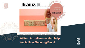 Brilliant Brand Names that help you Build a Blooming Brand featured on Brainz Magazine