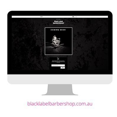 Black Label Barbershop Website
