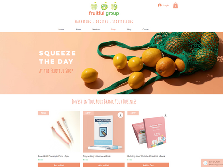 Squeeze the day - The Fruitful Shop is LIVE