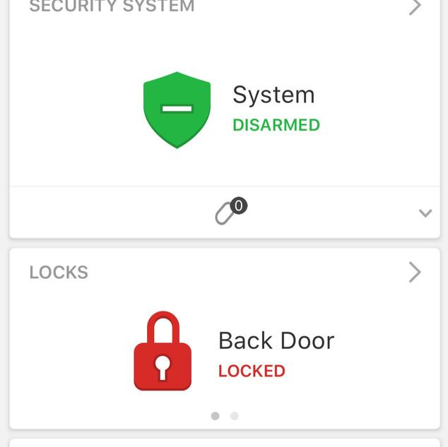 Alarm.com Phone interface