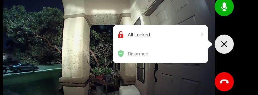 Video Doorbell with Door Lock Control