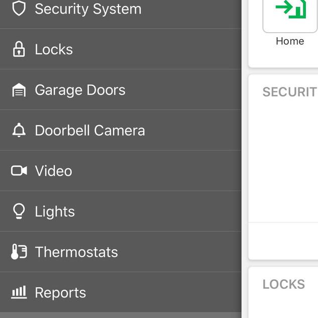 Alarm.com interface