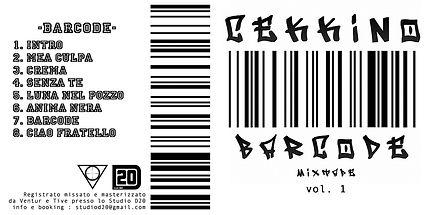 Fronte copertina: BARCODE MIXTAPE dI CEKKINO by Studio D20 - FREE DOWNLOAD -