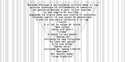 Retro copertina: BARCODE MIXTAPE dI CEKKINO by Studio D20