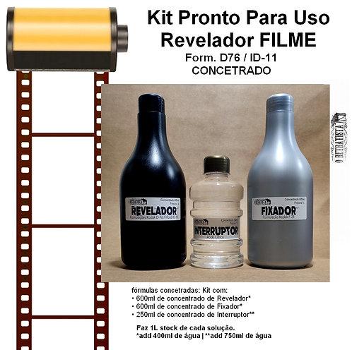 Kit Revelador Filme Fotográfico P&B- 1L (Concentrado) D76/ID11