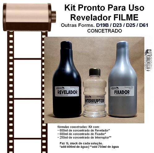 Kit Revelador Kodak Form.  D19b, D23, D25, D61 - 1L (Concentrado)