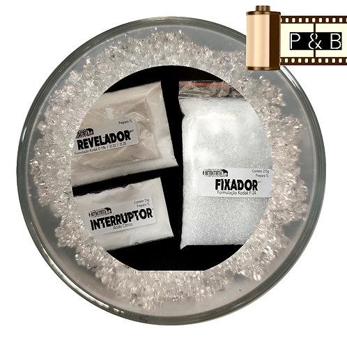 Reveladores Kodak Novas Formulações - Kit faz 1L (Em Pó)